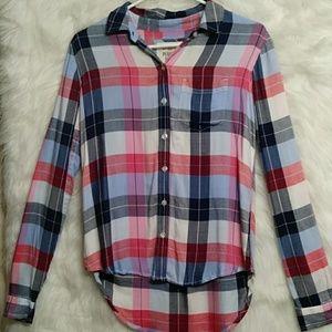 SO Perfect Shirt Plaid Button Down